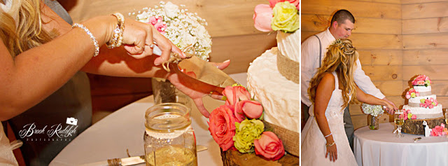 shabby chic wedding_cut the cake