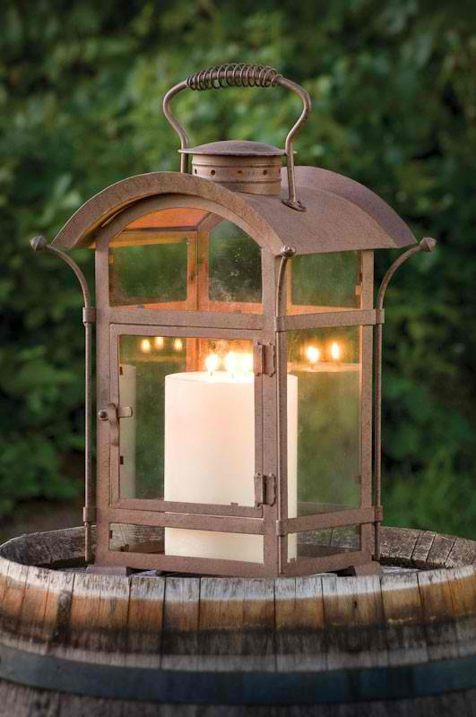 curved top lantern