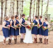 Bridal party in the forest at Destarte Wedding Venue
